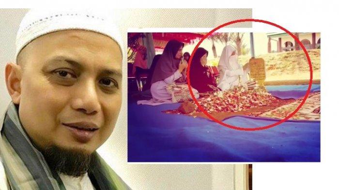 Didatangi Ustaz Arifin Ilham Lewat Mimpi, Istri Ketiga Ziarah Makam, Usap Nisan, Ucapkan Kalimat Ini