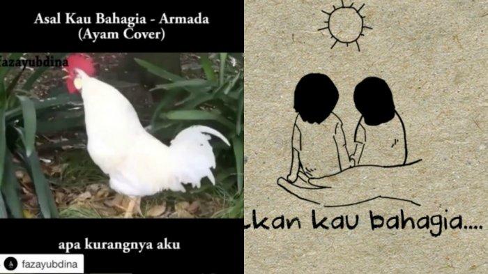 Ngakak, Lagu Armada Asal Kau Bahagia Versi Ayam Ini Viral di Instagram