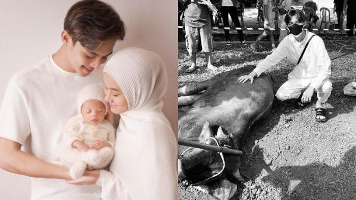 Genap Berusia Satu Bulan, Baby Arshaka Ikut Kurban untuk Kali Pertama, Rey Mbayang: Bismillah Ya Nak