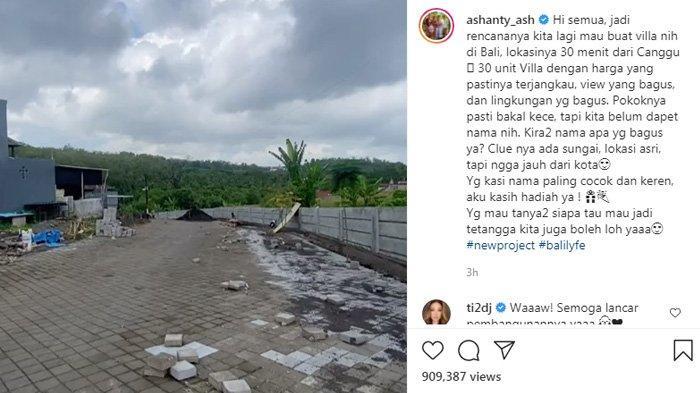 Ashanty akan membuat 30 villa di Bali.