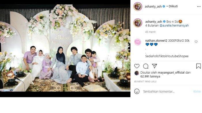 Ashanty unggah potret kekompakan anak-anaknya dengan anak-anak Krisdayanti di momen tasyakuran 4 bulanan Aurel Hermansyah