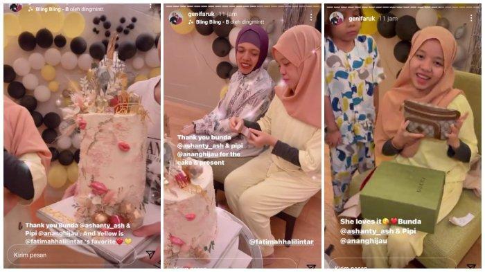 Ashanty dan Anang Hermansyah kirimkan kue ulang tahun untuk adik Atta Halilintar di Malaysia.