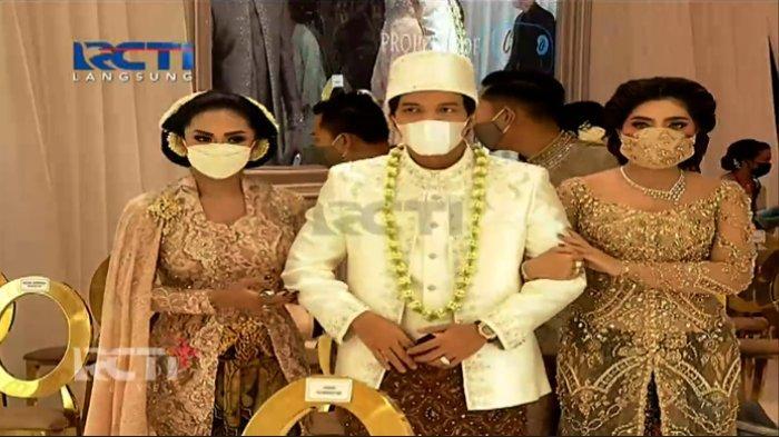 Ashanty dan Krisdayanti antar Atta Halilintar menuju meja akad nikah