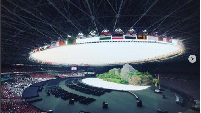 Suasana di dalam Stadion Gelora Bung Karno Jakarta
