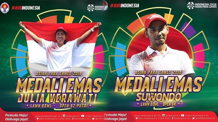 Kontingen Indonesia Berhasil Lampaui Target Medali Emas di Asian Para Games 2018