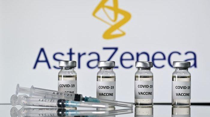 Ilustrasi vaksin covid-19 buatan AstraZeneca.