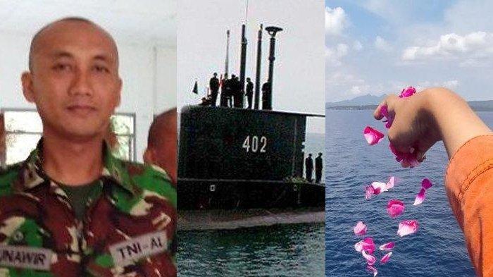 MOMEN Pilu Putri Letda Munawir Awak KRI Nanggala saat Tabur Bunga: Sedih Gak Tahu Jasadnya Dimana