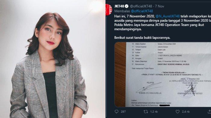 Aurel JKT48 lapor polisi soal dugaan pelecehan seksual