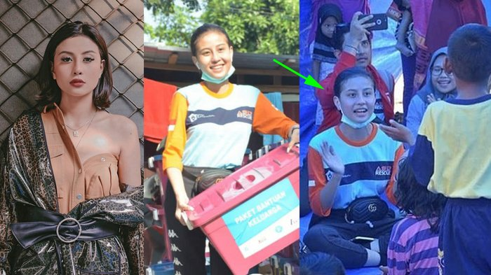 Viral Foto Awkarin Jadi Relawan di Palu, Penampilan Apa Adanya Tanpa Makeup, Netizen Minta Maaf