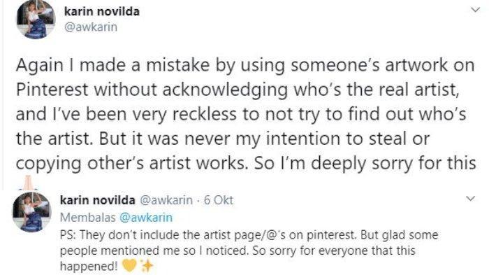 Awkarin minta maaf telah comot karya orang tanpa izin