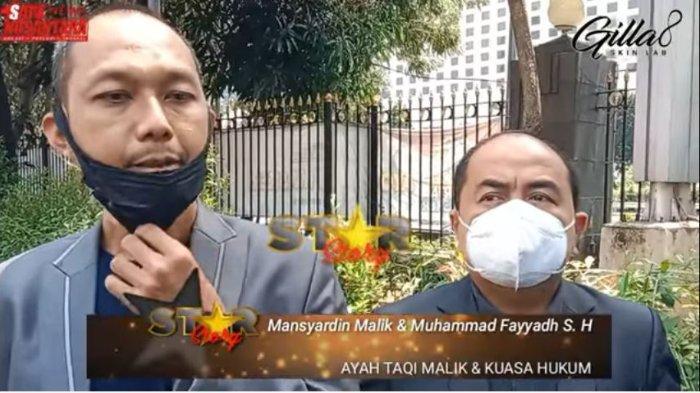 Ayah Taqy Malik, Mansyardin Malik laporkan Marlina Octorai ke polisi.