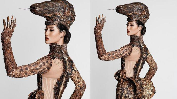 Ayu Maulida kenakan kostum komodo di Miss Universe 2021