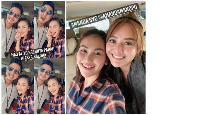 Ayu Ting Ting bertemu Arya Saloka dan Amanda Manopo.