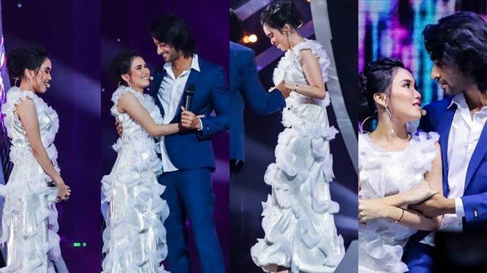 Ayu Ting Ting dan Shaheer Sheikh di panggung HUT ANTV 26