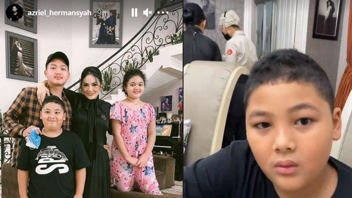 Azriel Hermansyah, Krisdayanti, Kellen dan Amora Lemos buka puasa bersama.