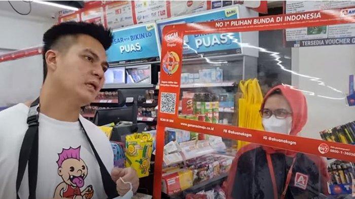 Aksi Sosial Baim Wong, Gratiskan Semua Pembeli Minimarket, Malah Banyak yang Kebingungan