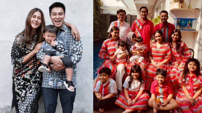 Potret keluarga Baim Wong dan keluarga Raffi Ahmad rayakan Idul Fitri