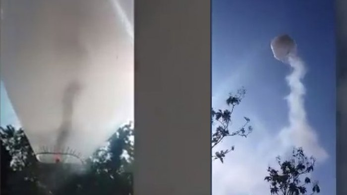 Balon Udara Raksasa Terbang, Warga Bersorak, Selang Semenit Berubah Jadi Tangisan