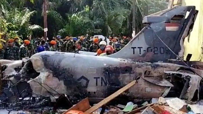SUASANA MENCEKAM Jatuhnya Pesawat Tempur TNI AU, Warga Takut Ada Peluru Meledak Hingga Kondisi Pilot