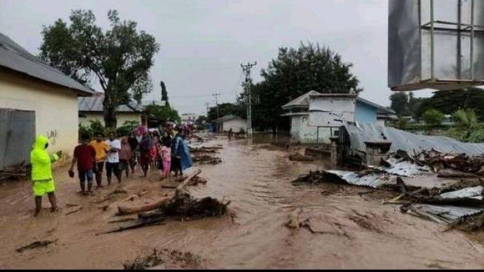 Banjir bandang di Flores Timur, NTT.