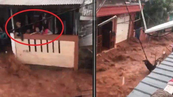 BANJIR JABODETABEK Detik-detik Derasnya Terjangan Banjir di Bogor & Evakuasi Bayi di Vila Nusa Indah