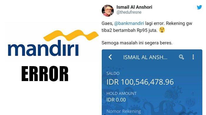 Bank Mandiri Error Begini Cara Cek Saldo Dan Histori Transaksi Di Mandiri Online Yang Benar Tribunstyle Com
