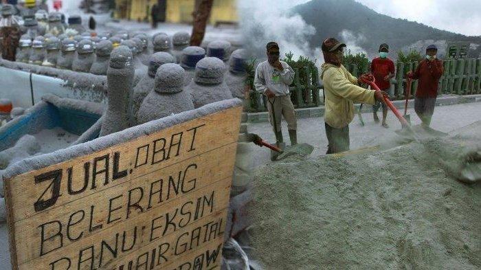 Potret Terkini Gunung Tangkuban Parahu Setelah Erupsi, Jalanan Hingga Dagangan Warga Memutih