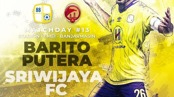 Live Streaming Vidio.com Barito Putera vs Sriwijaya FC 20.30 WIB Liga 1 2018 - Kesempatan Emas!