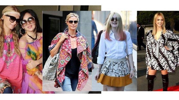 Paris Hilton dan Syahrini berbaju batik saat traveling ke Bali dan sederet artis dunia lain mengenakan batik Indonesia.