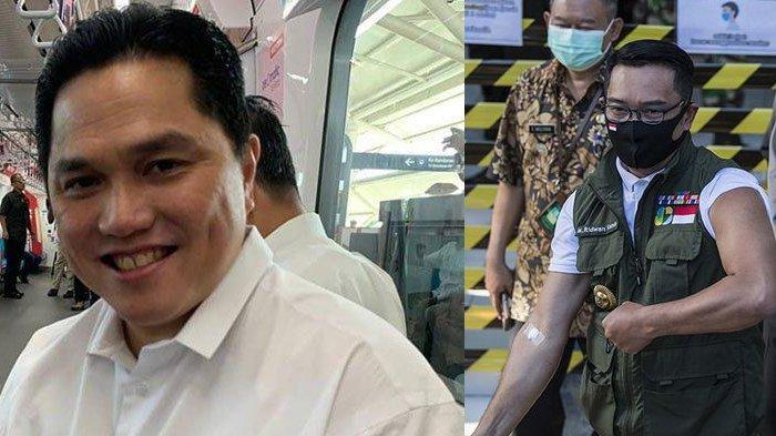 Erick Thohir Ogah Jadi Relawan, Ridwan Kamil Ceritakan Reaksi Disuntik Vaksin Covid-19: Agak Pegal