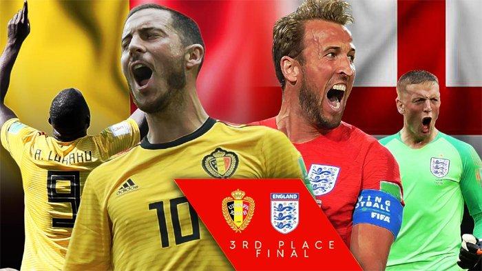 Jadwal Final Piala Dunia 2018 Belgia Vs Inggris Berebut Juara 3, Live Streaming Lewat HP di Sini