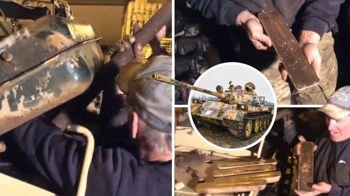 Beli tank bekas, temukan emas batangan di dalam tangki bahan bakarnya.