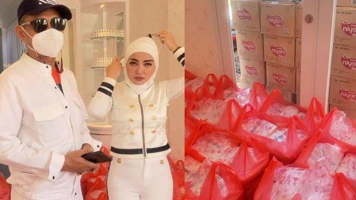 Bella Shofie bagikan 1000 paket makanan ke sesama.