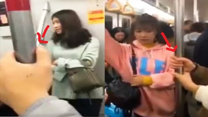 Viral di Medsos, Coba Perhatikan Video Saling Genggam Tangan Di Kereta Ini, Bikin Baper Kuy!