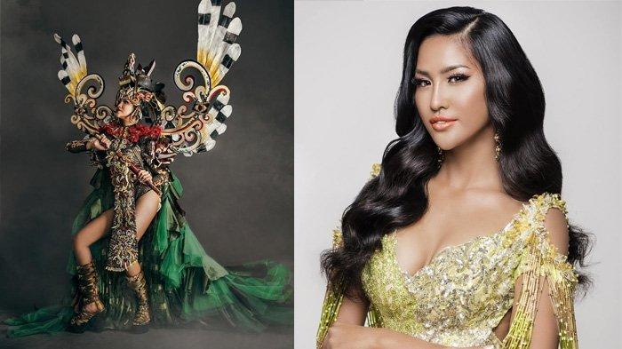 Penampakan Wilda Octaviana dengan Busana Dayak, Raih Best National Costume Miss Supranational 2018!