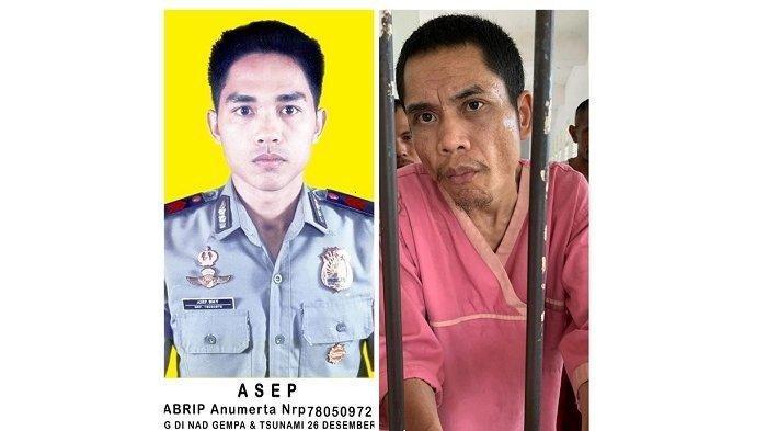 Bharaka Asep Anggota Polisi yang bertugas di Poskotis Brimob Peukan Bada, Aceh Besar dan sudah dinyatakan hilang dan meninggal dunia pada musibah tsunami pada 26 Desember 2004 lalu, ternyata pada Rabu (17/3/2021) ditemukan di Rumah Sakit Jiwa Aceh