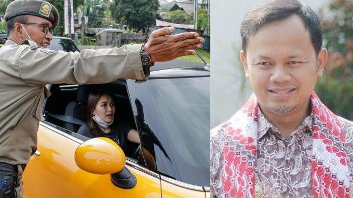 Ayu Ting Ting terkena razia ganjil genap (kiri), Wali Kota Bogor Jawa Barat Bima Arya (kanan)