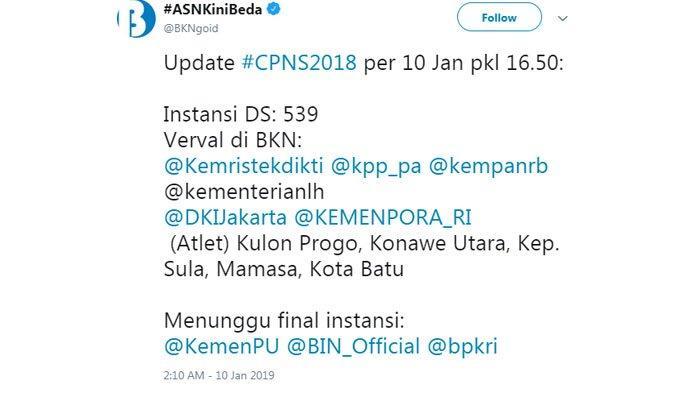 Update terbaru CPNS 2018.