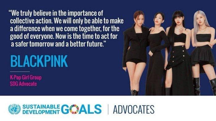 BLACKPINK resmi ditunjuk sebagai duta SDGs PBB.