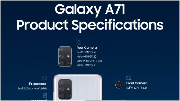Bocoran Spesifikasi Samsung Galaxy A71, Adik A70, Upgrade Kamera 64 MP & Snapdragon 730