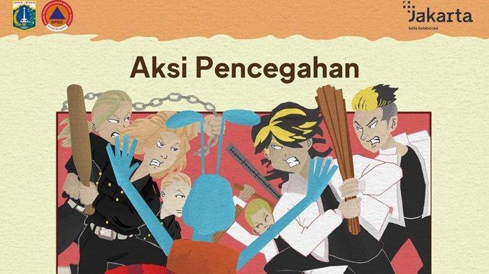 Kreatif, BPBD DKI Jakarta Gunakan Ilustrasi Mirip Anime Tokyo Revengers untuk Konten Edukasi