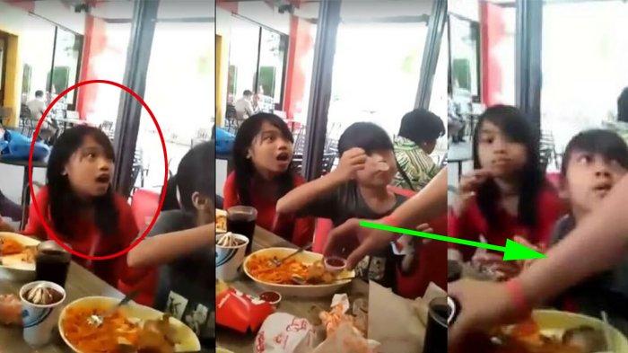 2 Anak Perempuan Makan di Restoran Cepat Saji, Tak Sadar Ada yang Mengawasi, Akhirnya Bikin Nangis!