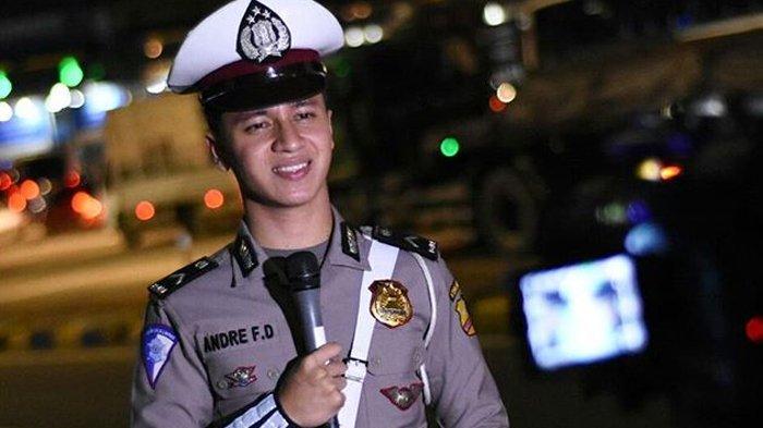 Bripda Andre Ferdiansyah - 5 Fakta Polisi Ganteng yang Kerap Tilang Cewek di Program 86 Net TV!