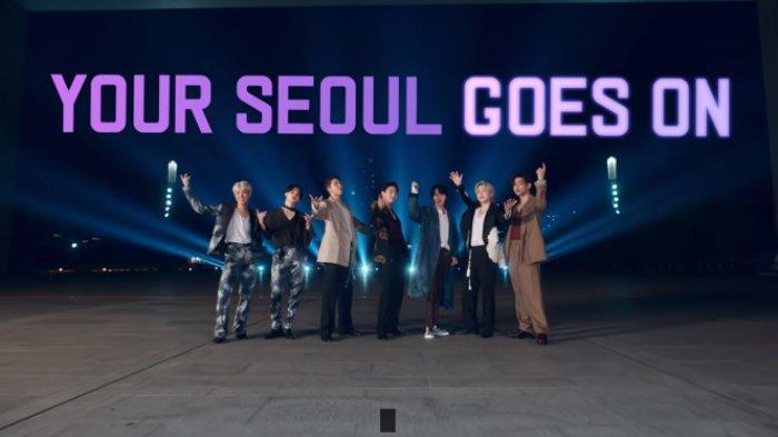 BTS saat kampanye '2021 YOUR SEOUL GOES ON'.