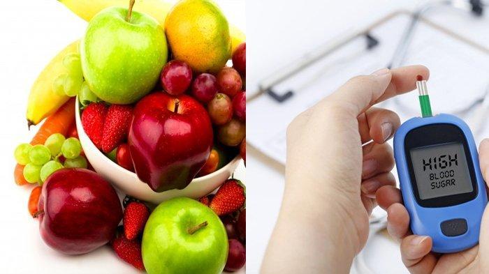 Buah dan ilustrasi diabetes