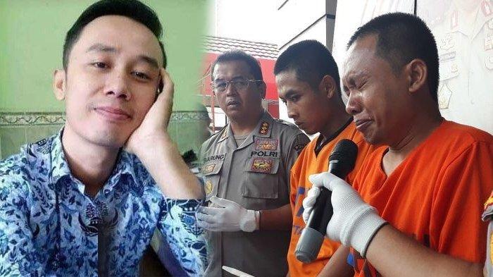 Tersangka pembunuhan dan mutilasi Budi Hartanto, Aris Sugiarto, menangis dan meminta maaf.