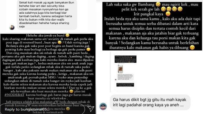 Bunga Zainal jawab cibiran warganet melalui Instagram Story.