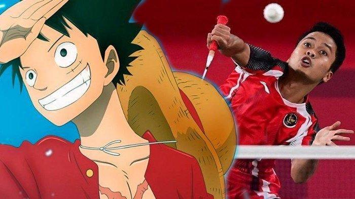 Kocak, BWF Lagi-Lagi Samakan Anthony Ginting dengan Karakter Anime, Kali Ini Luffy One Piece