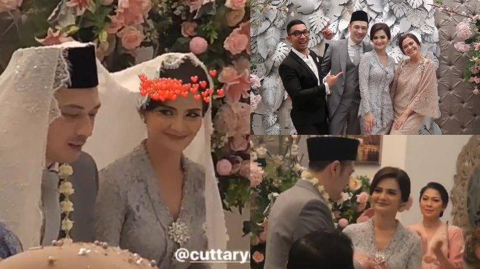 Bermahar Cincin Emas Bermata Berlian, Ini Deretan Foto & Video Pernikahan Cut Tari dan Richard Kevin
