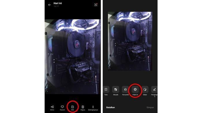 Cara mengakses fitur AI Palette di OPPO Reno6